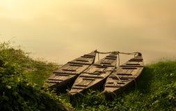 Boats. Fishing boats on the lake Royalty Free Stock Photography