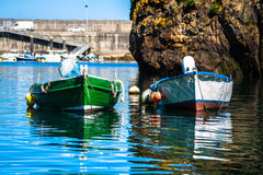 Boats in the fishing port from Cudillero, Asturias, Spain. Stock Image
