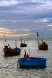 Boats fishing sea sky Stock Photo