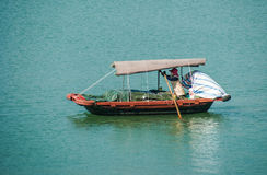 Boats in a fishing village, Vietnam Royalty Free Stock Image