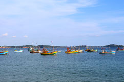 Boats for fishing, Weligama, Sri Lanka Stock Photography