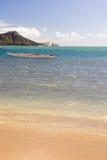Boats Float Pacific Ocean Diamond Head Oahu Waikiki Hawaii Stock Photography