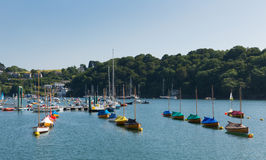 Boats on Fowey River Cornwall England UK Royalty Free Stock Photo