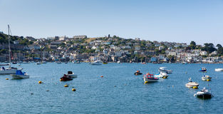 Boats on Fowey River Cornwall England UK Stock Photo