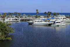 Boats in Front of Dania Beach Royalty Free Stock Images