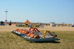 Boats games on the seashore Royalty Free Stock Photo