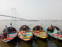 Boats. The Ganges, prinsep ghat, calcutta Stock Image