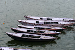 Boats on the Ganges River in India Royalty Free Stock Images