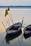 Boats in Ganges river Royalty Free Stock Image