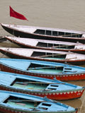 Boats in the ganges in Varanasi, India Royalty Free Stock Photos