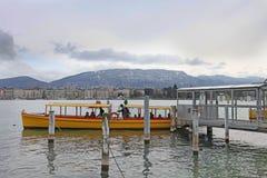 Boats on Geneva lake. Switzerland Royalty Free Stock Image