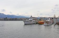 Boats on Geneva lake. Switzerland Stock Photography