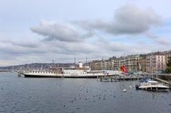 Boats on Geneva lake Stock Photos