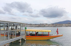 Boats on Geneva lake Stock Photography