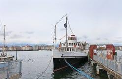 Boats on Geneva lake Stock Photo