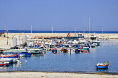 Boats in Giovinazzo, Italy Stock Photo