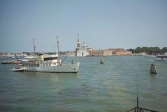 Boats in Giudecca canal stock photo