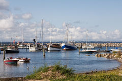 Boats in Glowe harbor Royalty Free Stock Image