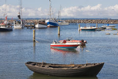 Boats in Glowe harbor Royalty Free Stock Images