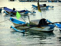 Boats ready to going fishing on the sea royalty free stock photography