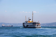 Boats on the Golden Horn, Istanbul Royalty Free Stock Photography