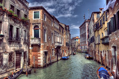 Boats and Gondola off the Grand Canal in Venice, Italy Royalty Free Stock Image