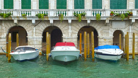 Boats on Grand Canal in Venice, Italy, Europe Stock Images