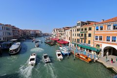 Boats on the Grand Canal in Venice, Italy Royalty Free Stock Image