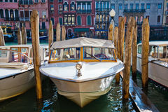 Boats on the Grand Canal in Venice Royalty Free Stock Photography