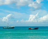 Boats in Grenada. In the Caribbean sea Stock Photo