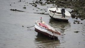 Boats Grounded at Caleta Cadiz Spain stock footage