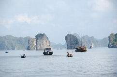 Boats in Ha Long Bay Stock Images