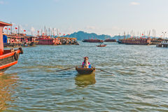 Boats in Halong Bay. Vietnam, Southeast Asia royalty free stock photos