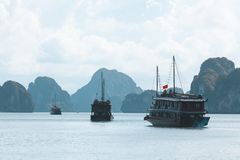 Halong Bay in Vietnam stock photos