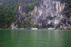 Boats in Halong Bay Stock Photo