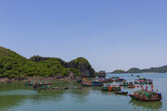 Boats in Halong Bay Stock Photography