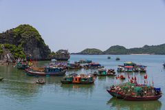 Boats in Halong Bay Royalty Free Stock Images