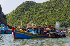 Boats in Halong Bay Stock Photos
