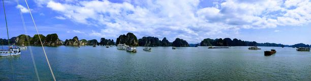 Boats on Halong Bay, Vietnam Royalty Free Stock Images