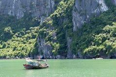 Boats in Halong Bay, Vietnam royalty free stock photography