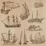 Boats - An hand drawn vector pack. Boats and Ships around the World. Collection of an hand drawn vector illustrations (pack no.3). Each drawing comprises of Stock Images