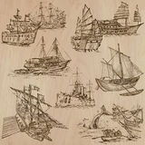 Boats - An hand drawn vector pack Royalty Free Stock Photo