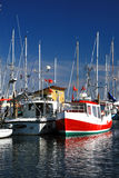 Boats in harbor. Boats in a harbor in Denmark Royalty Free Stock Image