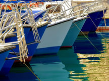 Boats in harbor Stock Photos