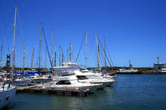 Boats and harbor Royalty Free Stock Photo