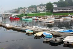 Boats in harbor Stock Image