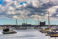 Boats in the harbor of Boston, Massachusetts Stock Image