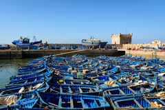 Boats on the harbor, Essaouira, Morocco Stock Images