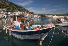 Boats in the harbor of Gytheio Royalty Free Stock Photography
