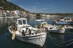 Boats in the harbor of Gytheio Royalty Free Stock Photo